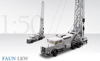 Conrad 1042 Faun 3-Axle Truck with Drill Set 1/50 Die-cast release MIB