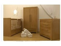 Solid oak nursery furniture