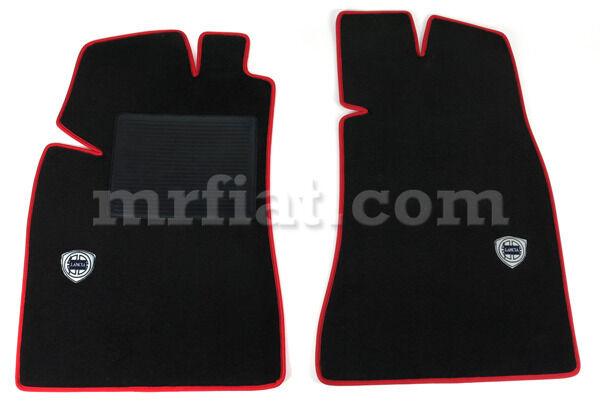Lancia Beta Montercarlo Scorpion Floor Mat Set Red Trim Lancia Logo New
