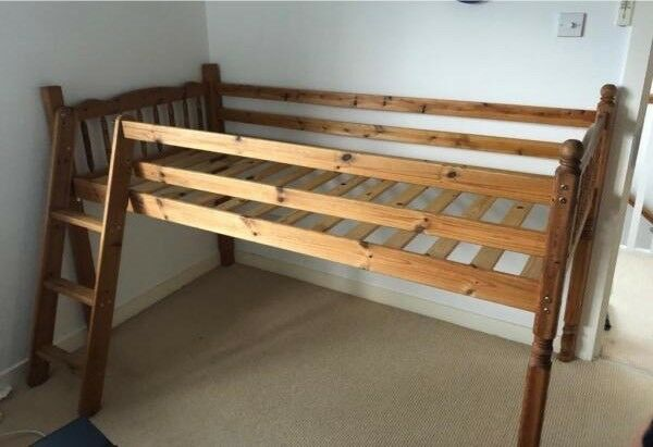 Single Bed Raised With Storage Below