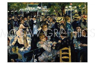RENOIR PIERRE-AUGUSTE - LE MOULIN DE LA GALETTE 1876 - ART PRINT POSTER (Auguste Renoir Moulin De La Galette 1876)