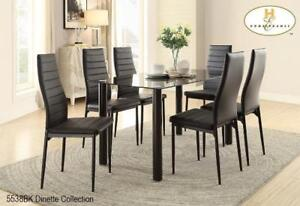 Glass Top 7 PC Dining Set (MA697)