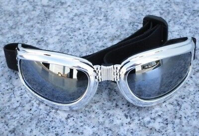 Used, PS Chrome Folding UV400 PADDED MOTORCYCLE GOGGLES  for sale  Laguna Hills