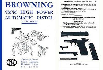 Browning c1935 9mm Hi Power Manual
