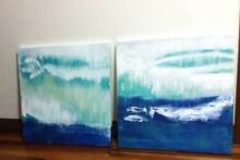 Two CANVAS ABSTRACT ARTWORKS: 'Glimmer of Hope' Blaxland Blue Mountains Preview