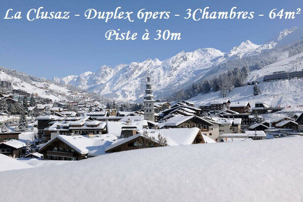 LA CLUSAZ from Dec16th, 3 bedroom 64m² ski-in ski-out apartment