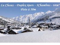 LA CLUSAZ from Dec16th, 3 bedroom 64m² ski-in ski-out apartment