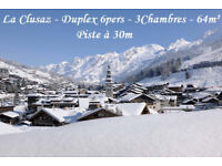 Ski for CHRISTMAS or NEW YEAR in LA CLUSAZ in a 64m², 3 bedrooms cosy flat with ski slope at 30m