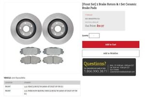 Brand New Front Brake Pads and Rotors 2010 RAV 4