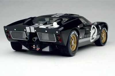 1966 FORD GT-40 MK II #2 BLACK 1/18 DIECAST MODEL CAR SHELBY COLLECTIBLES SC408