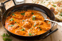 Indian style Butter chicken with butter naan food catering