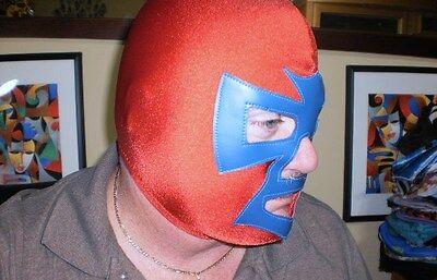 Blue & Red Pro Wrestling Mask