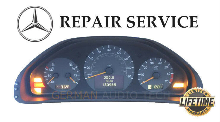 Details about REPAIR SERVICE for MERCEDES BENZ W210 E320 E430 E55 DASH  INSTRUMENT CLUSTER LED