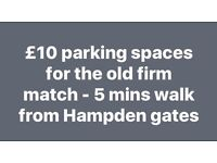 Parking spaces for old firm at Hampden - rangers Celtic match