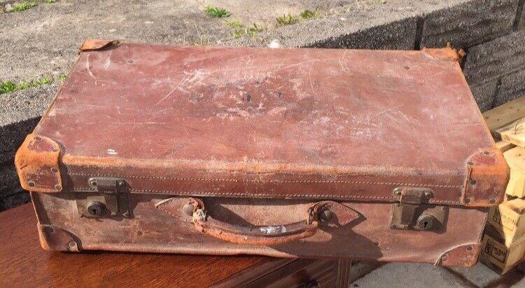 Vintage distressed suitcase