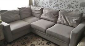 FREE DELIVERY HYGENA SEATTLE LIGHT GREY CORNER SOFA BED GREAT CONDITION