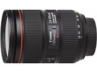 CANON 24-105MM LENS FOR SALE - PERFECT CONDITION