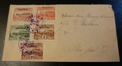 Costa Rica San Jose Cover mailed 1912. Ovpr stamps