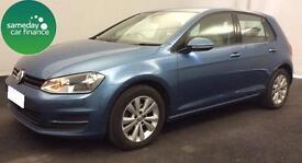 £197.17 PER MONTH BLUE 2013 VW GOLF 1.6 TDI SE 5 DOOR DIESEL MANUAL *WITH NAV*