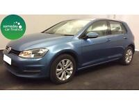 £197.17 PER MONTH BLUE 2013 VW GOLF 1.6 TDI SE 5 DOOR DIESEL MANUAL *WITH NAV*