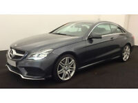 GREY MERCEDES-BENZ E250 E350 CDI AMG LINE NIGHT PREMIUM Coupe FROM £88 PER WEEK!