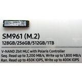 Samsung 960 Pro Series (OEM) 256GB NVMe M.2 NGFF SSD PCIe 3.0 x4 80mm - (SM961)