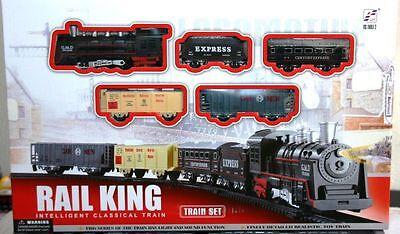 5-Teiliges Zugset mit elektrische Lokomotive und