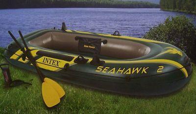 Schlauchboot Seahawk 2 Set mit Paddel + Pumpe Boot Paddelboot Angelboot Intex