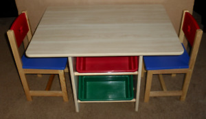 Children's Kidcraft Wooden Table And Chair Set
