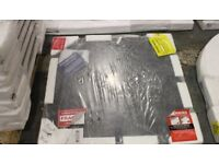 BRAND NEW 900 X 900MM SLATE EFFECT SOLID RESIN SHOWER TRAY EXCELLENT CONDITION £40