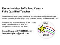 Easter Holiday SATs prep camp - Fully Qualified teacher