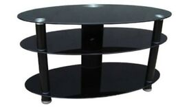 REDUCED Black Glass TV Stand