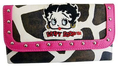 Licensed BETTY BOOP Giraffe Wallet Fuchsia Color + Checkbook  holder