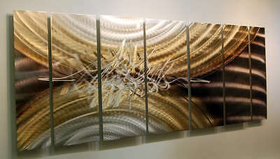 Statements2000 3D Metal Wall Art Panels Abstract Silver Gold Sculpture Jon Allen