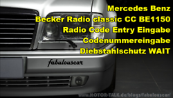 becker-radio-classic-be1150-code