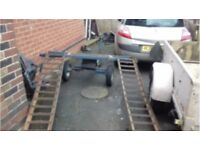 A FRAME CAR DOLLY RECOVERY TRAILER BROKEN DOWN CAR TOWING