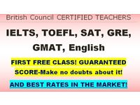England's top teacher/tutor for IELTS, TOEFL, Eng! Guaranteed results, £19/hour. First free tutoring