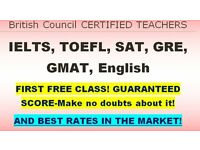 UK's Best Certified Teachers/tutors For TOEFL, IELTS. Money Back Guarantee and the first free class