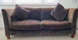 2 Large Grey John Lewis sofas for sale