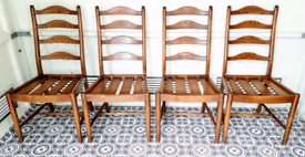 4 Ercol Ladderback chairs in Golden Dawn Delivery Available