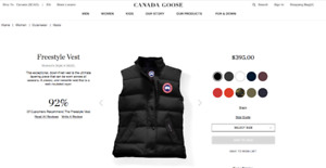 Canada Goose Womens Freestyle Vest Small