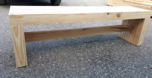 Solid Spruce Wood Bench