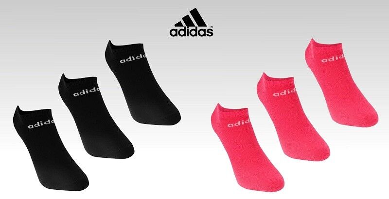 3 Pack Ladies Genuine Adidas Lightweight Low Cut No Show Trainer Socks 5.5-8