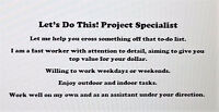 PROJECT SPECIALIST