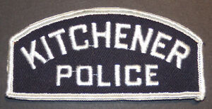 Kitchener Ontario police patch
