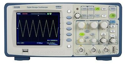 Bk Precision 2532b Digital Storage Oscilloscope 2 Channels 40 Mhz 500 Msas