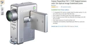 Caméra Canon Powershot TX1