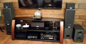 Pioneer Receiver with 5pcs Sony speakers and pioneer subwoofer