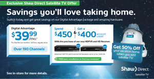 !!!!!!SWITCH AND SAVE TODAY WITH SHAW DIRECT!!!!!!