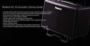 Wanted to buy: Roland AC-33 acoustic guitar amplifier
